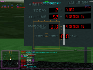 Close up of the scoreboard.