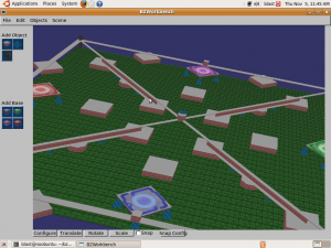 BZWorkbench on Ubuntu 9.04 with the HiX map loaded.